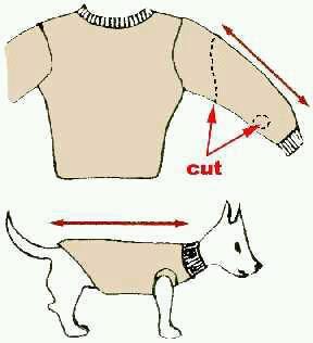 Свитера для собаки своими руками