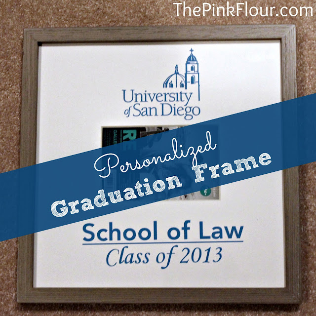 Personalized Graduation Frame - great present for any graduate made using vinyl and Silhouette machine.