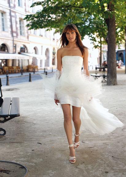 Coiffurete Dance: La robe de mariée courte