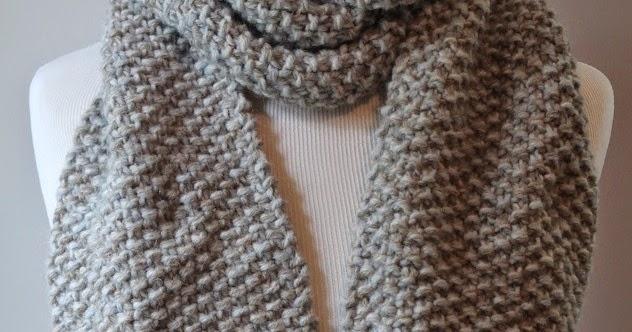 Knitting Pattern For Seed Stitch Scarf : Posh Patterns Easy Crochet Patterns and Knitting Patterns: Free Knitting Patt...