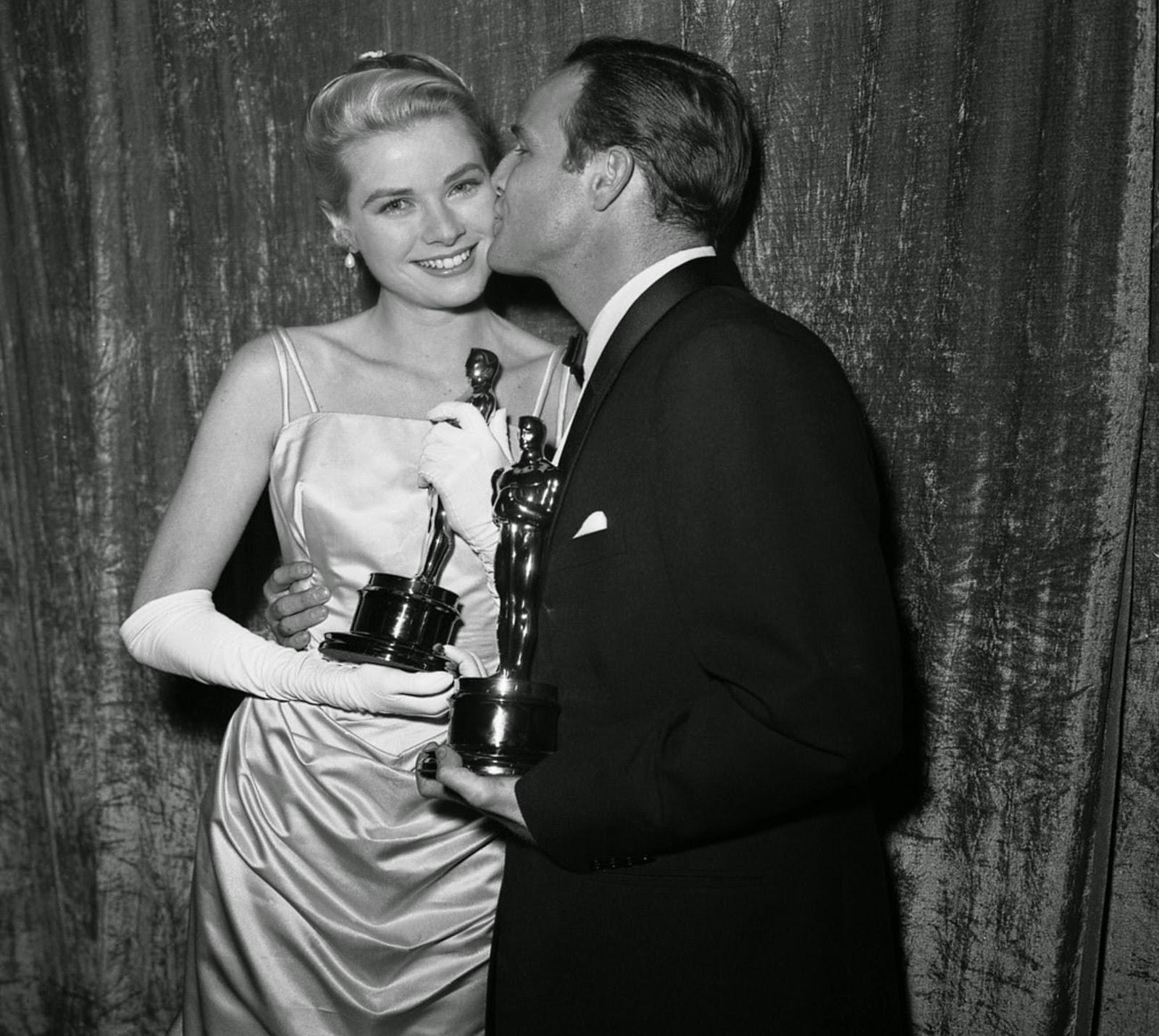 Oscary 1954 - Grace Kelly & Marlon Brando
