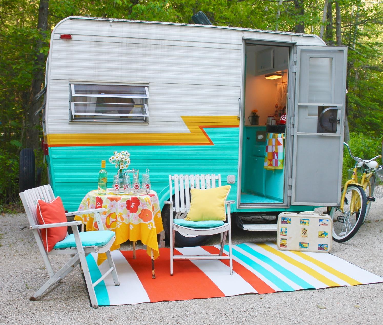 Opendoor Studio Cute Vintage Camper Summer Roadtrip 2015