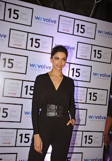 Actress Deepika Padukone Latest Pictures in Black Dress at Lakme Fashion Week 2015  2