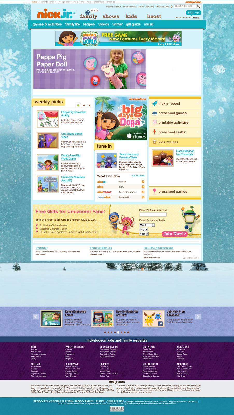 nick jr free preschool games abckidlife lima laman web 412