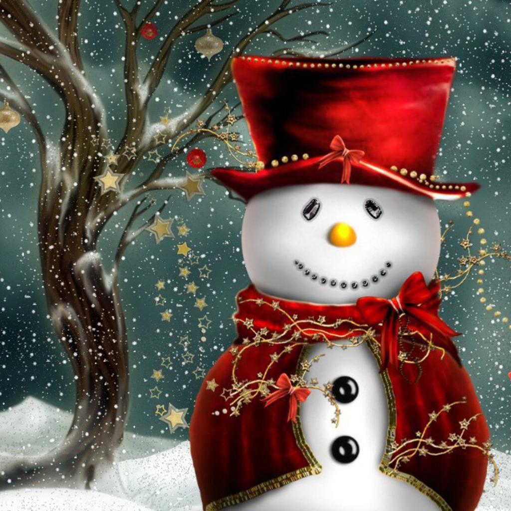 ipad wallpapers free download christmas snowman ipad mini wallpapers