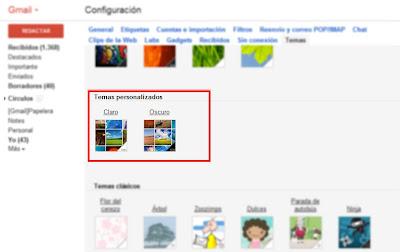 Cada vez más personalizado Gmail para sus usuarios
