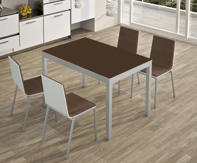 Mesa extensible porcelanico tu cocina y ba o - Mesas d cocina ...
