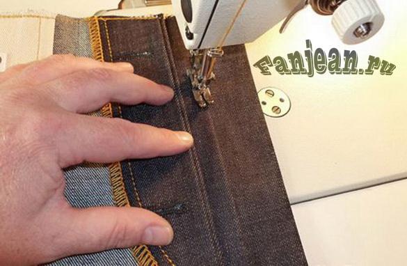 Пошив джинс. Карманы в джинсах