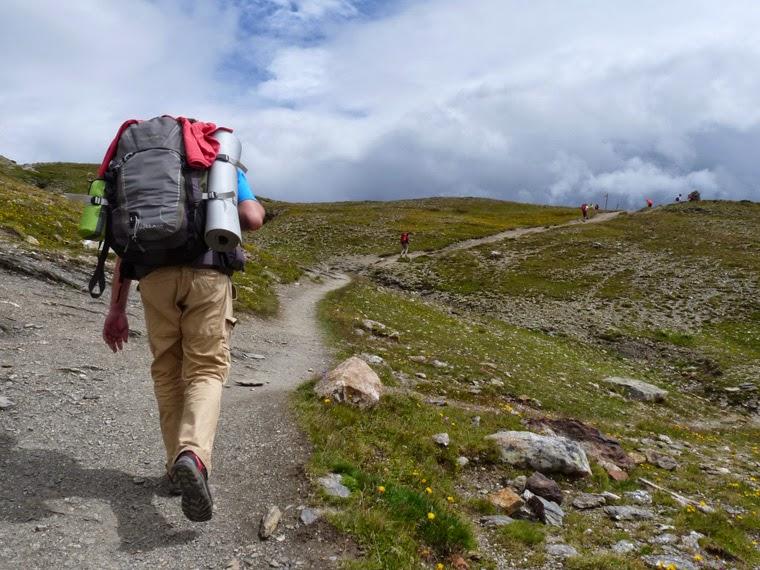 ツールドモンブラン ラ・クロワ・デュ・ボンノム峠が見え、ラストスパート