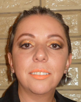 glitter dailus copper batom laranja fluor