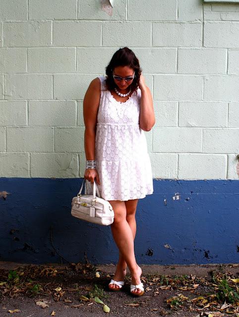 white party, white outfit, Kinsey, white dress