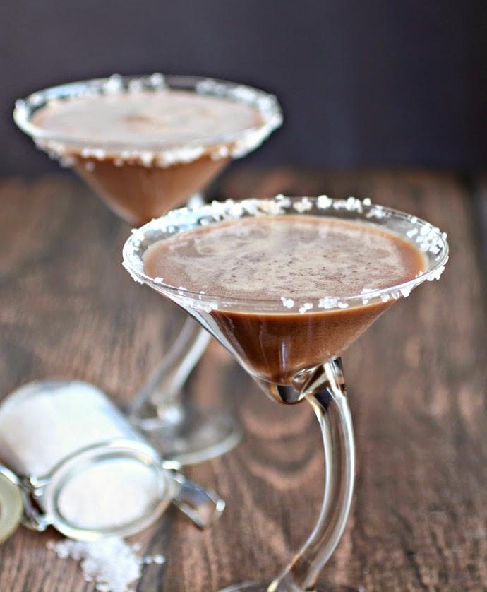 Salted Caramel Triple Threat Chocolate Martini
