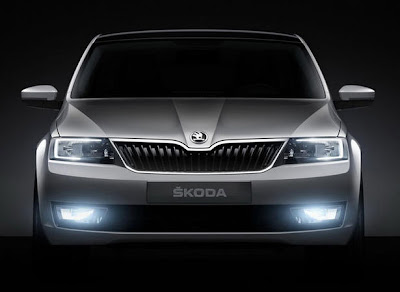 Skoda Mission L concept car front view