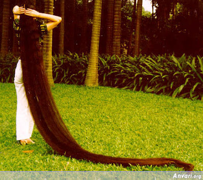 woman with the longest hair