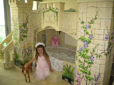 cama castillo niña