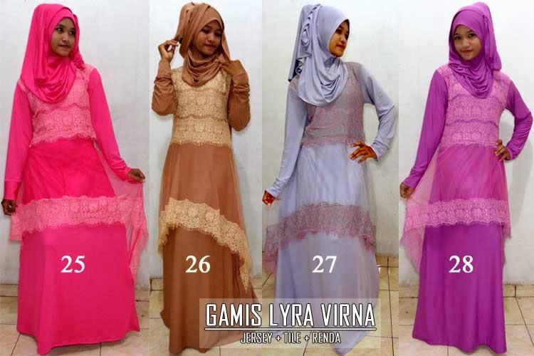 Gamis-syar'i-lyra-virna-plus-jilbab-hanna-cantik