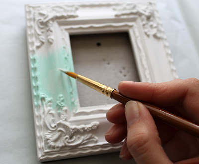 diy ombre photo frame - painting