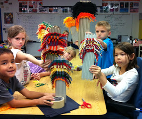 2nd Grade Weaving!