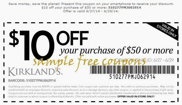 Kirklands in store coupons october 2018