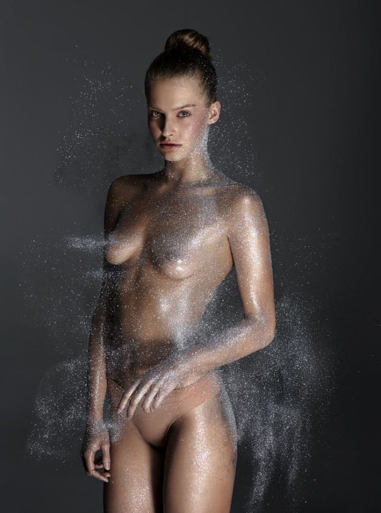 top model naked