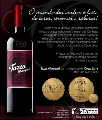 Curso de vinhos na Tazza