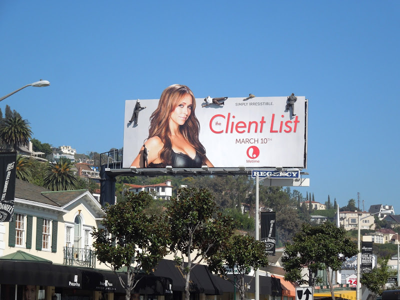 Client List season 2 mannequin billboard Sunset Plaza