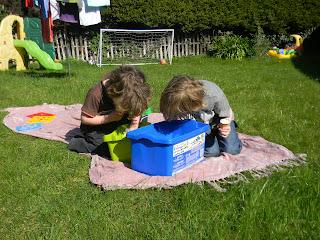 Lego Duplo in Garden