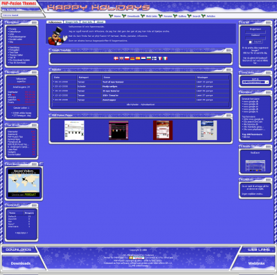 Free phpfusion Web2.0 Bleu Digital Theme