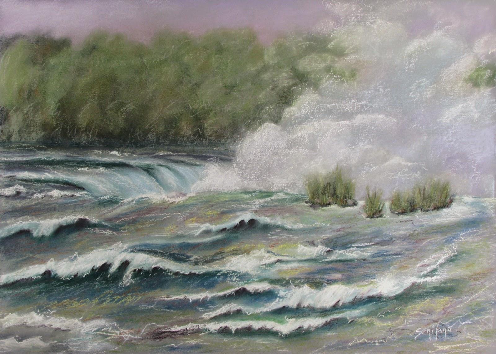 Kathy Schifano, horseshoe Falls, Niagara artist