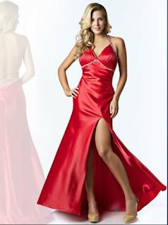 Vestido Rojo de NocheVieja 2012 con avertura