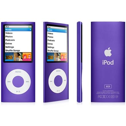 mobile mania ipod nano 4th generation purple. Black Bedroom Furniture Sets. Home Design Ideas