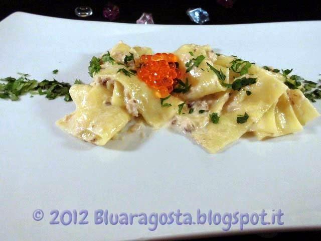 Lasagnette alla crema di aringa affumicata e caviale di salone