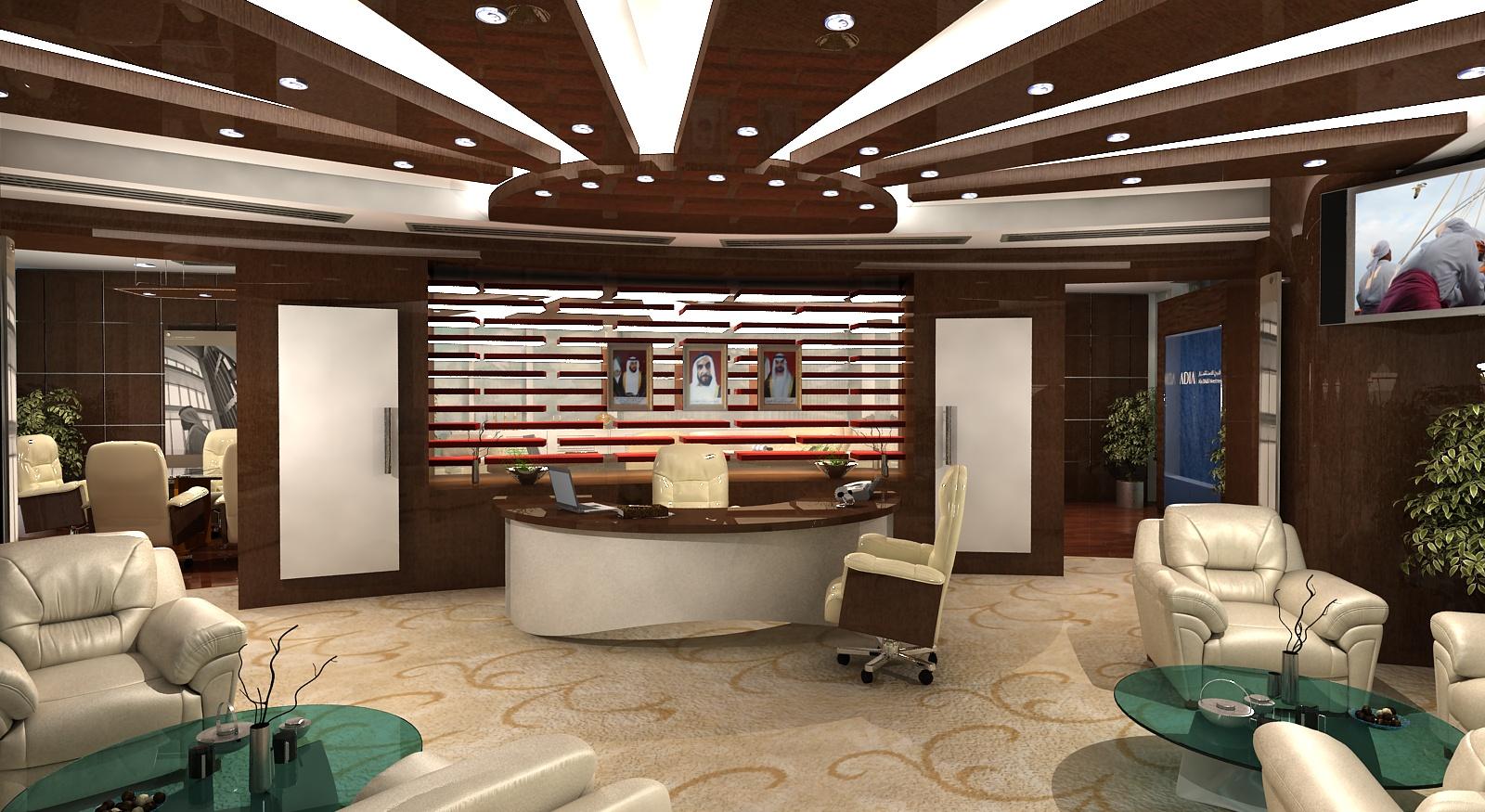 Gurooji design adia ceo 39 s office interior for Office interior design images