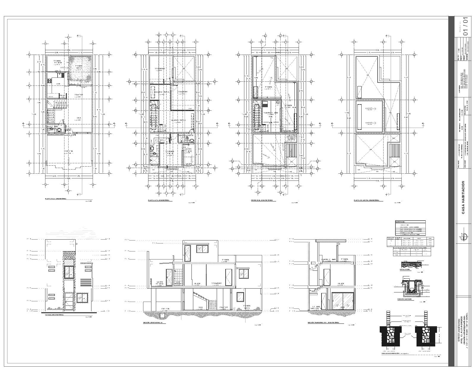 Orbed arquitectura construcci n proyecto y plano de for Planos de casa habitacion