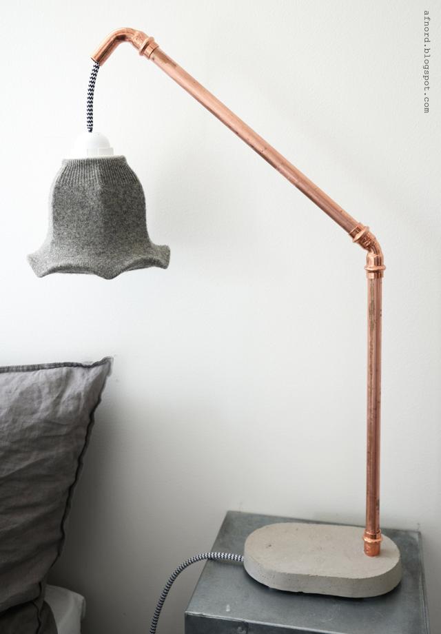 diy betong och kopparlampa diy mormorsglamour. Black Bedroom Furniture Sets. Home Design Ideas