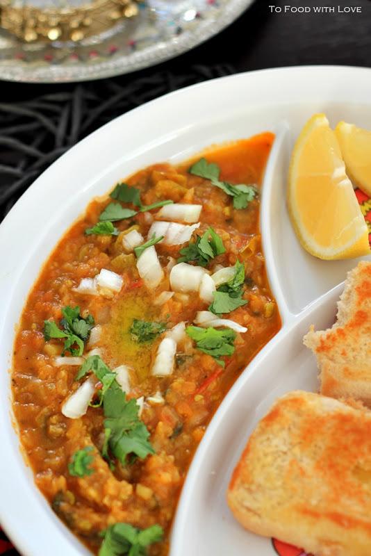 Vegetables in pav bhaji