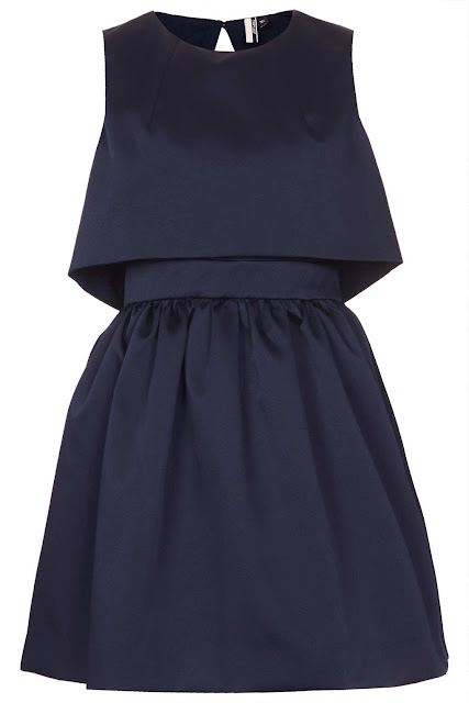 navy satin dress
