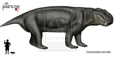therapsida del permico Lystrosaurus