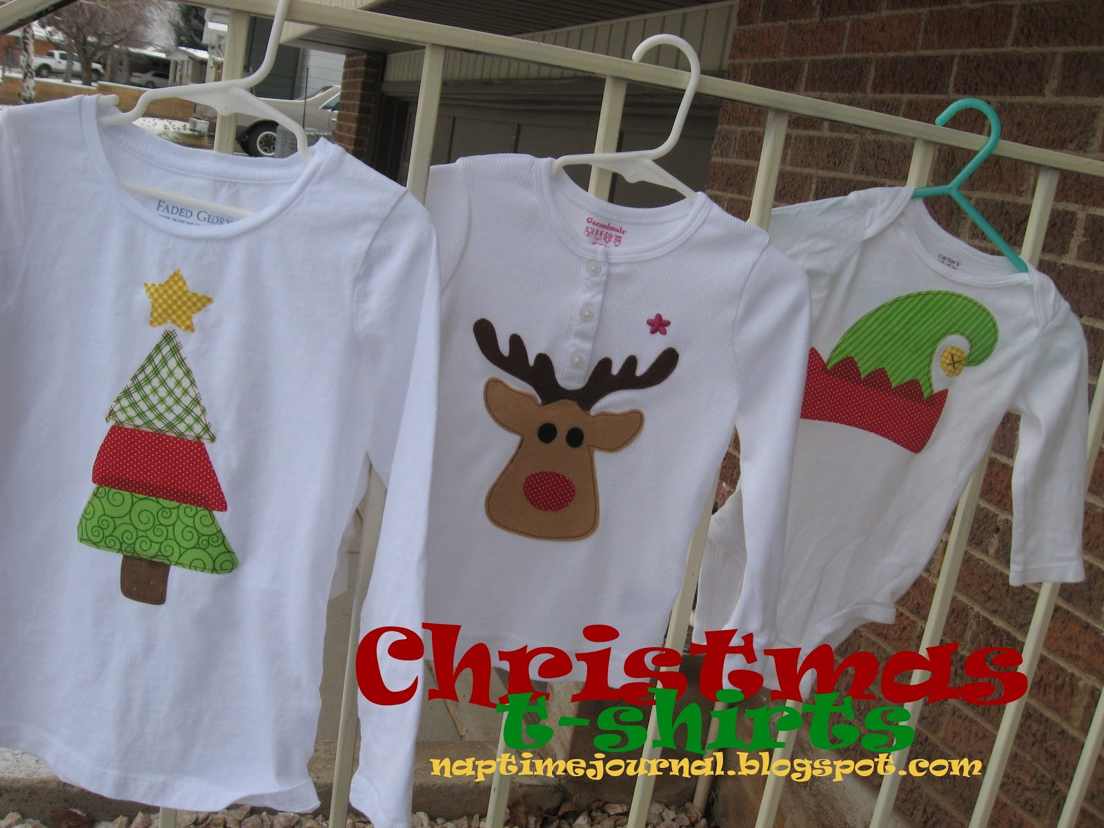 Nap Time Journal: Christmas t-shirts for your kids