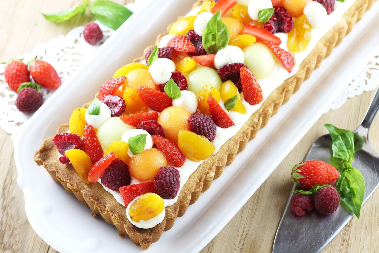 Tarte Sablée à la Mousse Légère au Chocolat blanc et aux Fruits d'été | Une Graine d'Idée