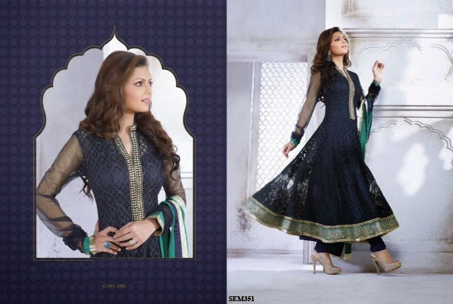 Latest Embroidery Georgette Long Anarkali Suit