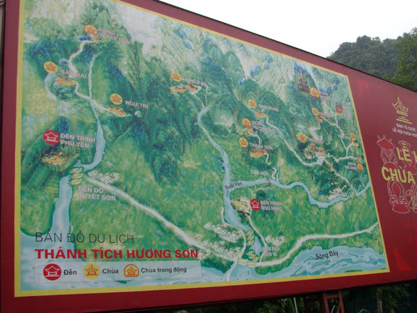 Mapa del complejo de la Pagoda del Perfume