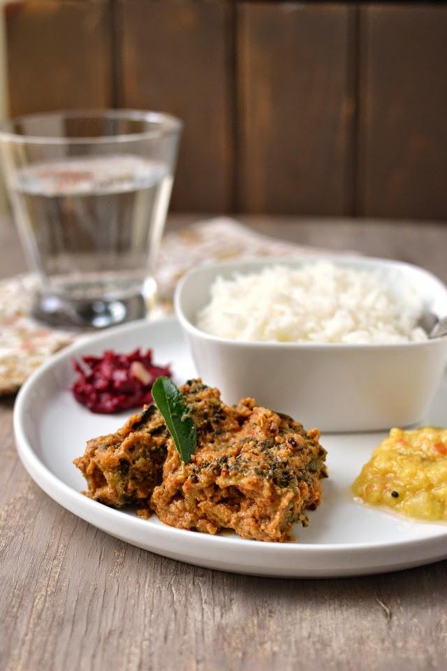 Stuffed Karela/ Bittergourd Curry with Garlic