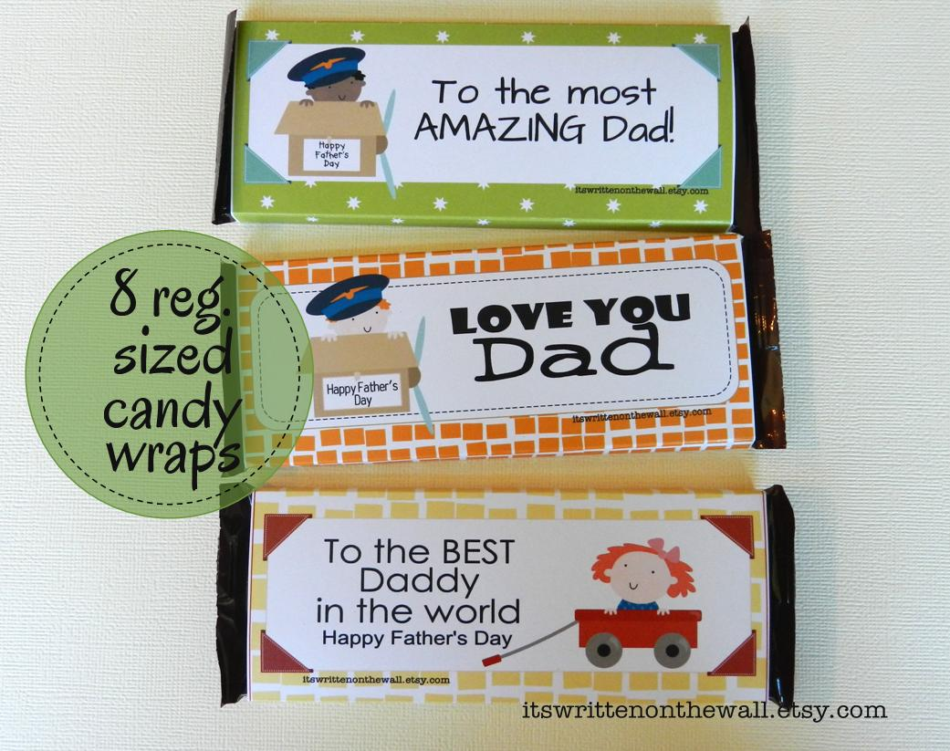 Father's Day Candy Bar Wraps