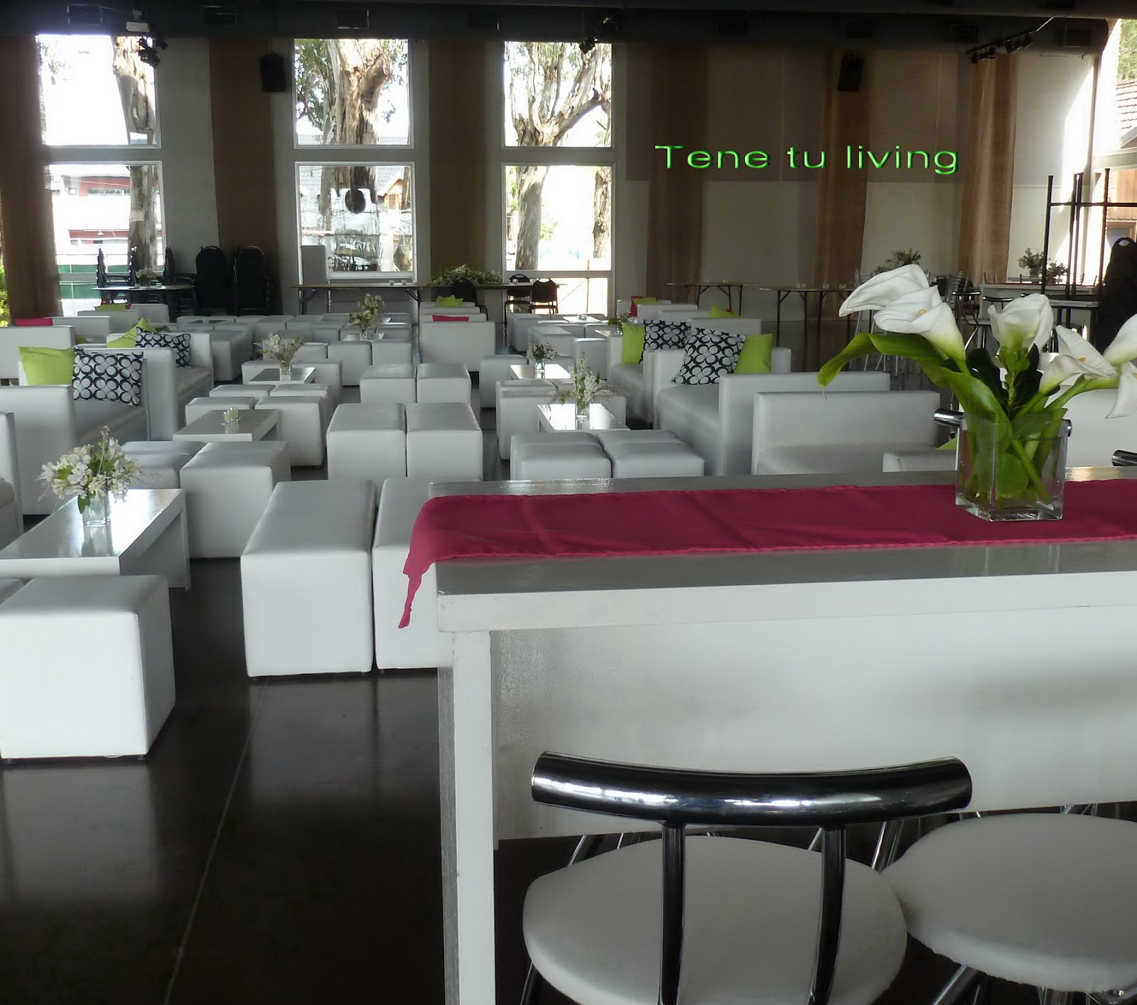 Tene tu living alquiler livings eventos for Sillas empresariales