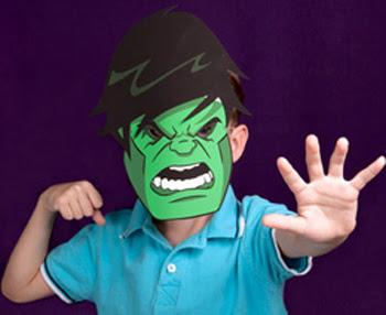 Printable Hulk Mask