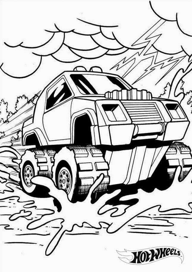 Hot Wheels Coloring Pages 10