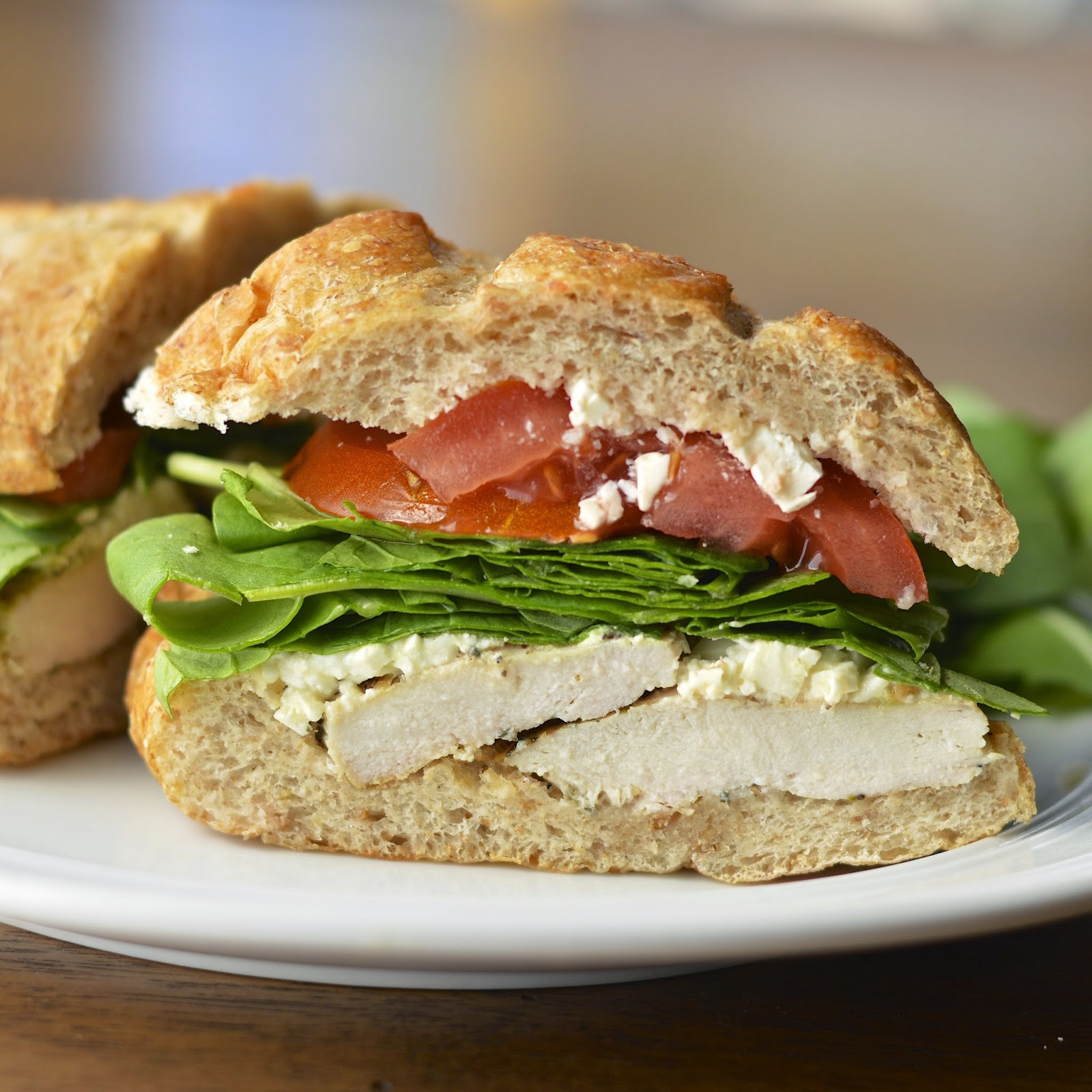 Greek Lemon Chicken Sandwich | Virtually Homemade: Greek ...