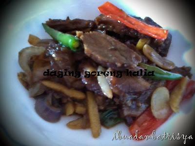 resepi daging goreng halia