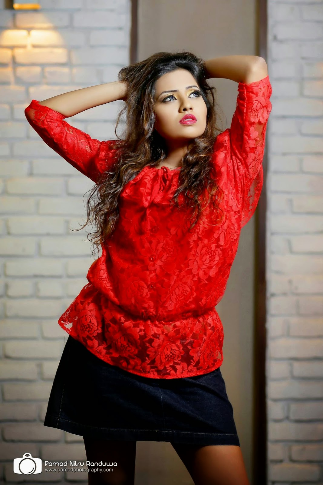 Hiruni Bandara short skirt